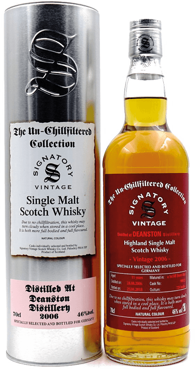 Whisky: Deanston 2006/2018 1st Fill Sherry Butt Signatory Vintage