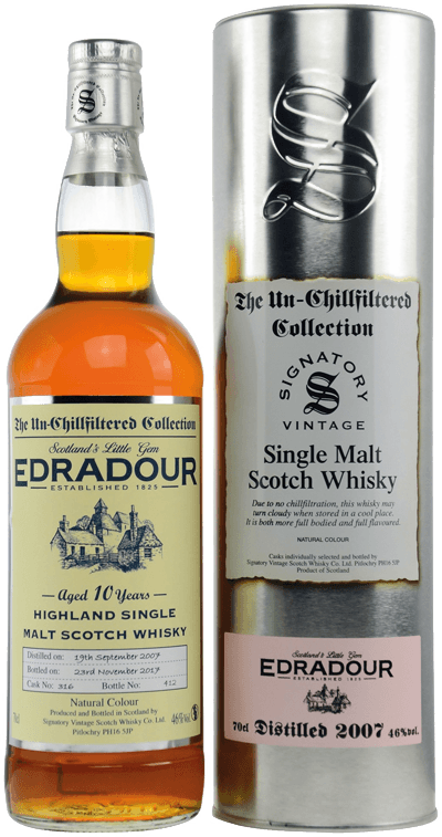 Whisky: Edradour 2007/2017 Signatory Single Cask #316