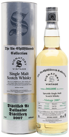 Whisky: Dailuaine 2007/2019 Signatory Un-Chillfiltered