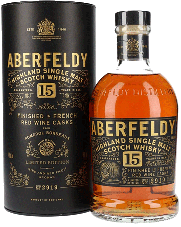 Whisky: Aberfeldy 15 Jahre Rotwein Finish